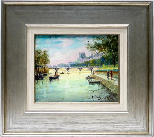 PIERRE CHIFLET. Vista del rio Sena. 145266