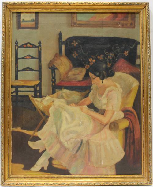 ANONIMO : Mujer Sentada 145685