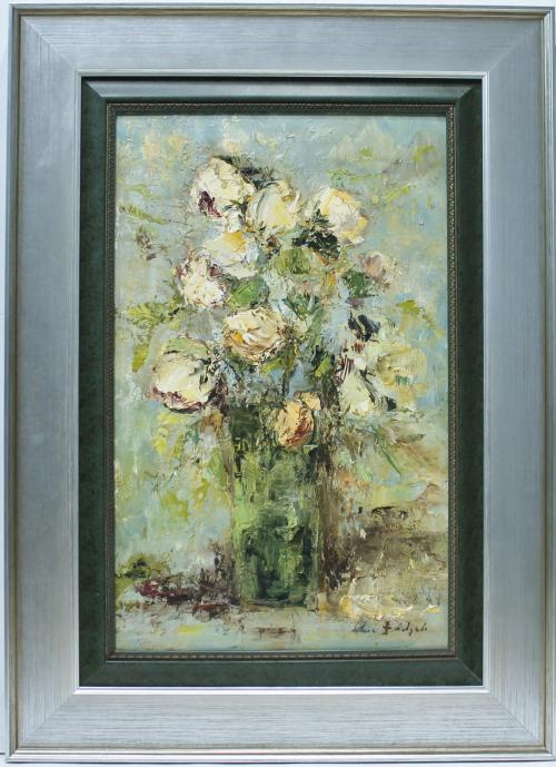 ANA DELGADO : Flores sobre la mesa 145703