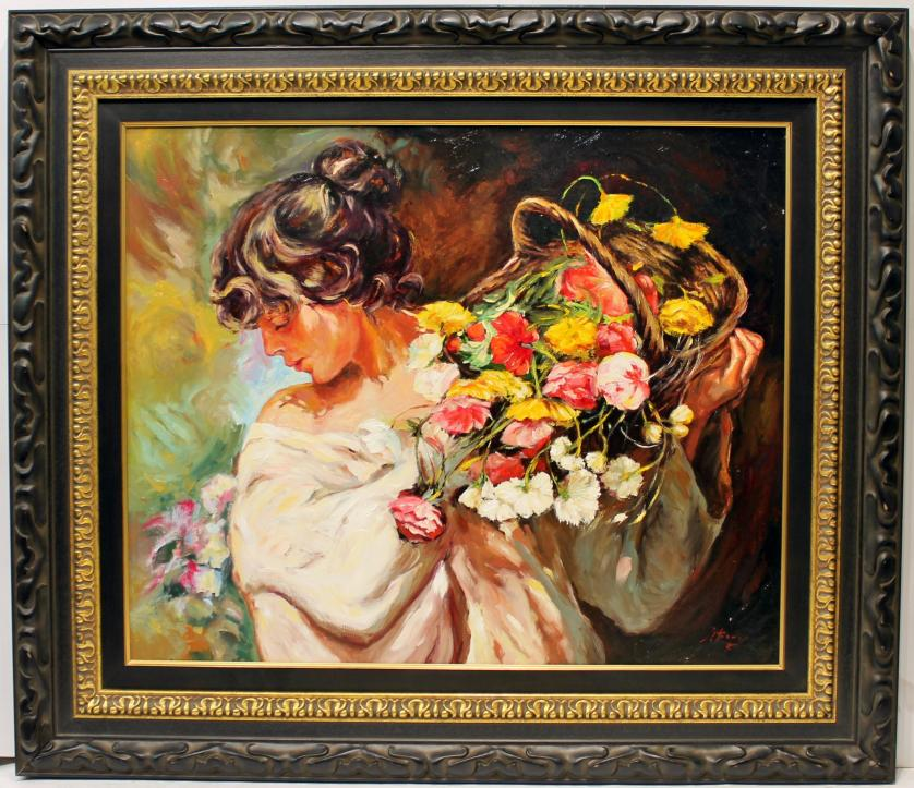 JOSE LUIS GINER : Mujer con flores 145531
