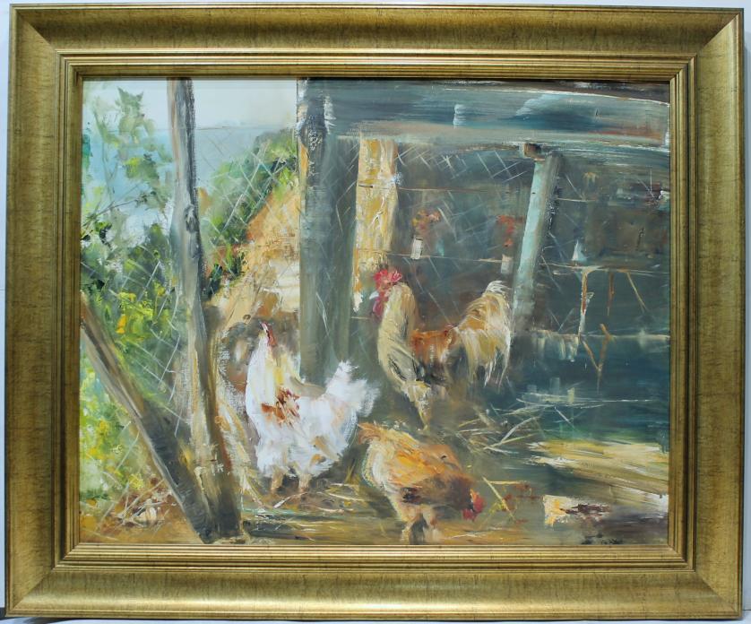 ANA DELGADO : Gallo y gallinas 145695
