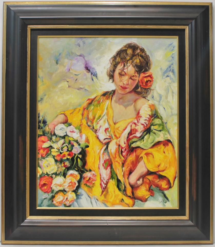 JOSE LUIS GINER : Mujer con flores 145533
