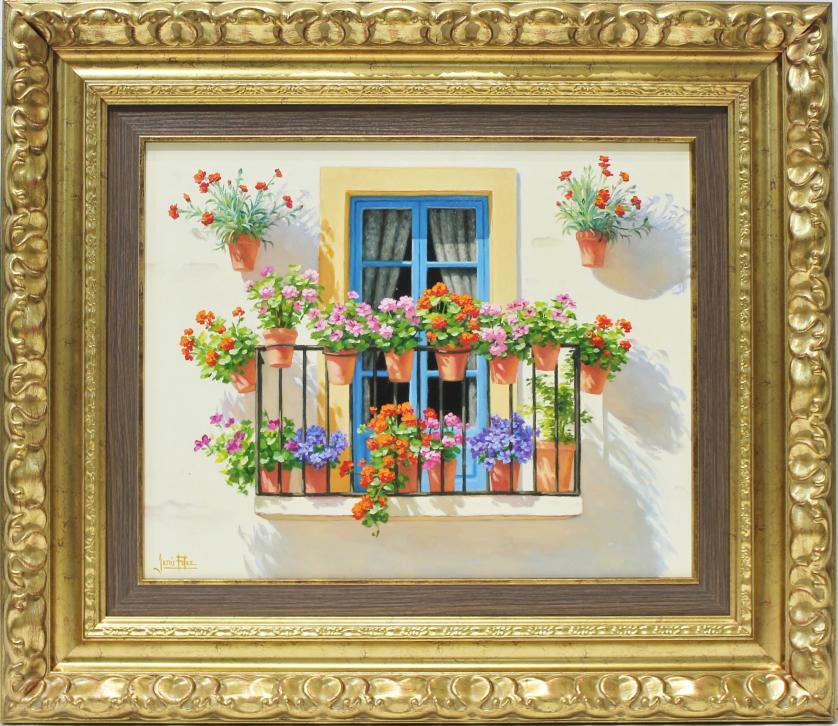 JESUS FERNANDEZ. Balcón con macetas. Ref. 145218